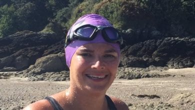 T Cribb, Funeral Director, Swim, English Channel
